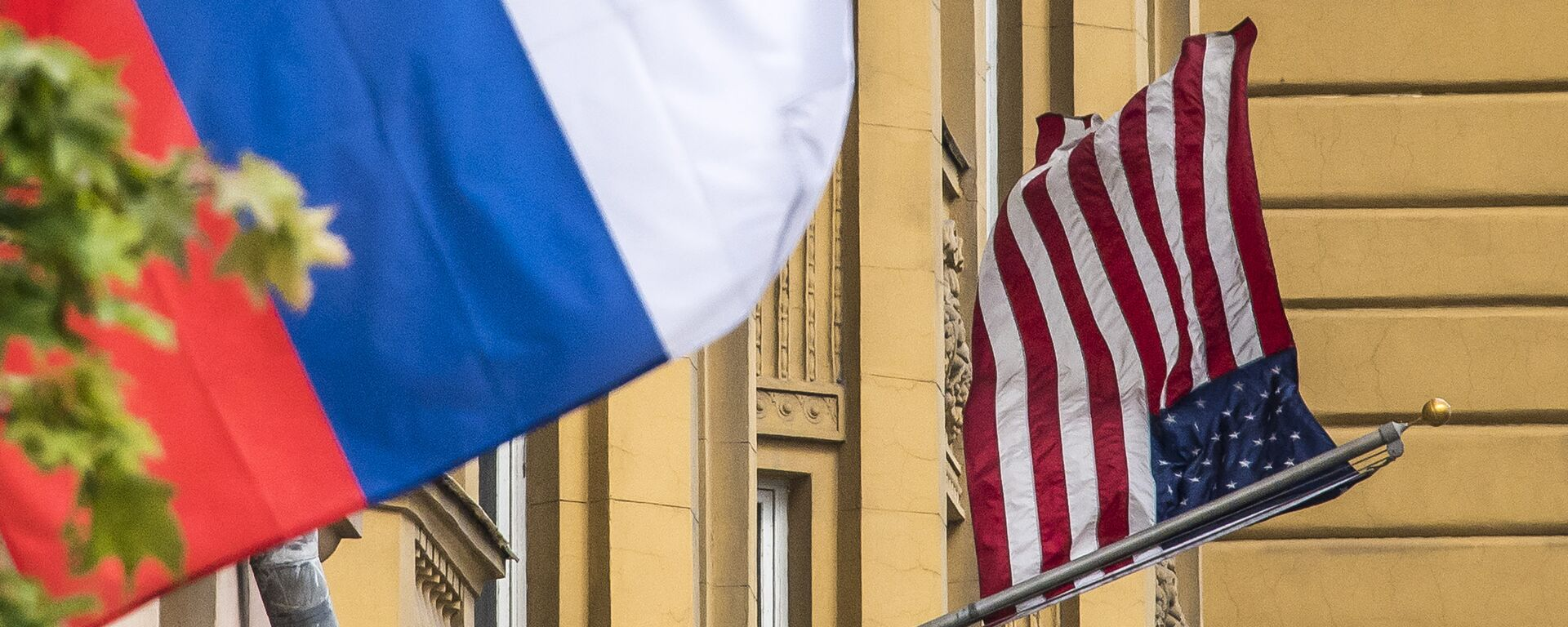 Флаги США и России - Sputnik Грузия, 1920, 14.08.2021