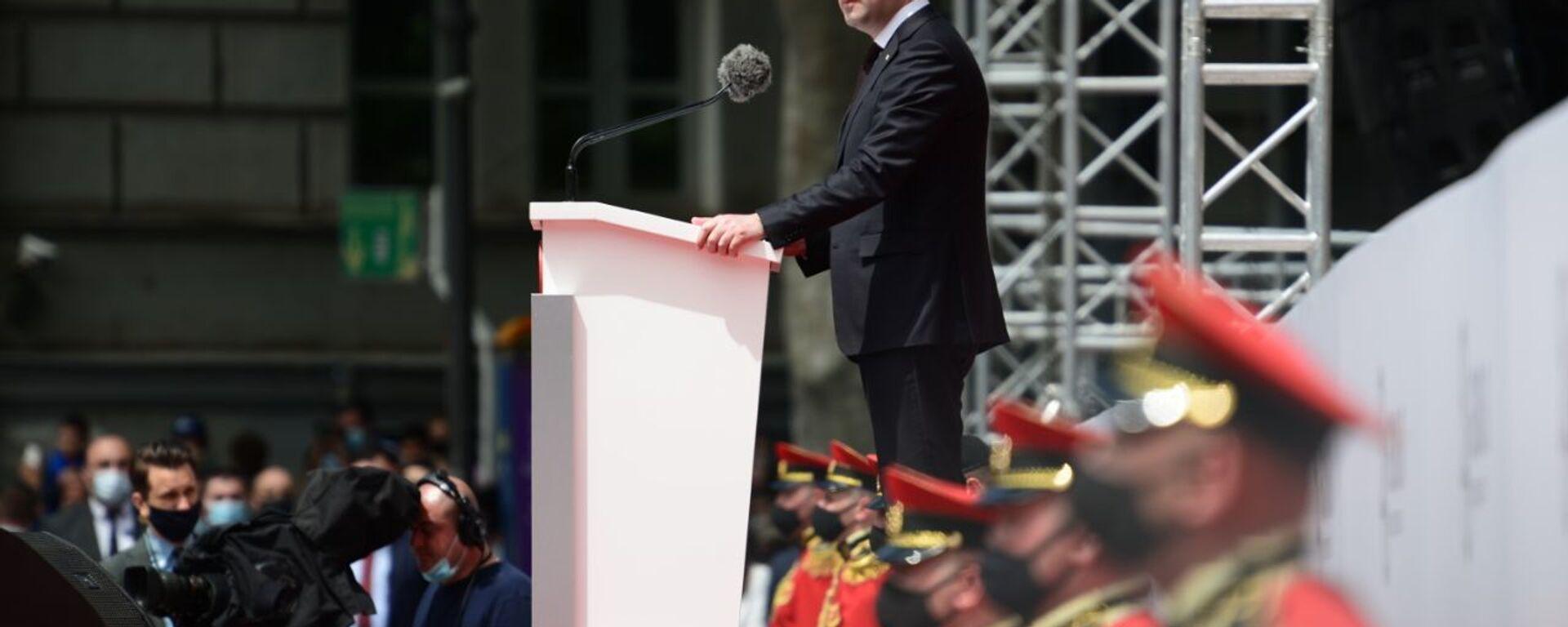 Ираклий Гарибашвили. Празднование Дня Независимости Грузии 26 мая 2021 года - Sputnik Грузия, 1920, 25.06.2021