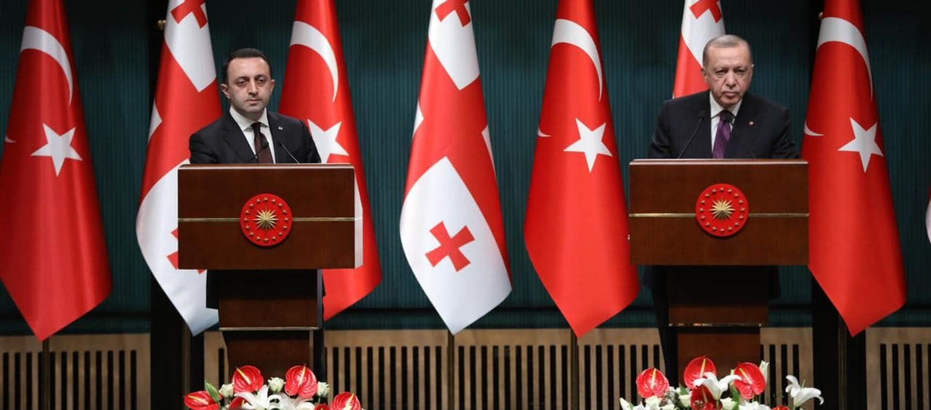 Государственный визит премьер-министра Грузии Ираклия Гарибашвили в Турцию   - Sputnik Грузия, 1920, 02.06.2021