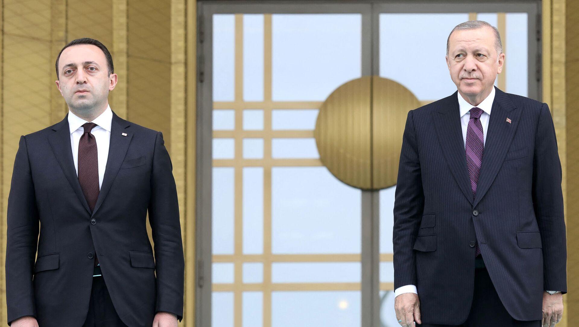 ირაკლი ღარიბაშვილი და რეჯეფ თაიიფ ერდოღანი - Sputnik საქართველო, 1920, 01.08.2021