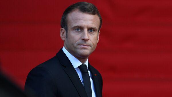 Президент Франции Эммануэль Макрон  - Sputnik Грузия