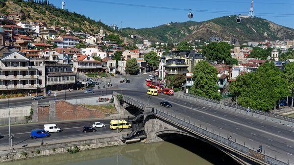 Вид на город Тбилиси - Метехский мост - Sputnik Грузия