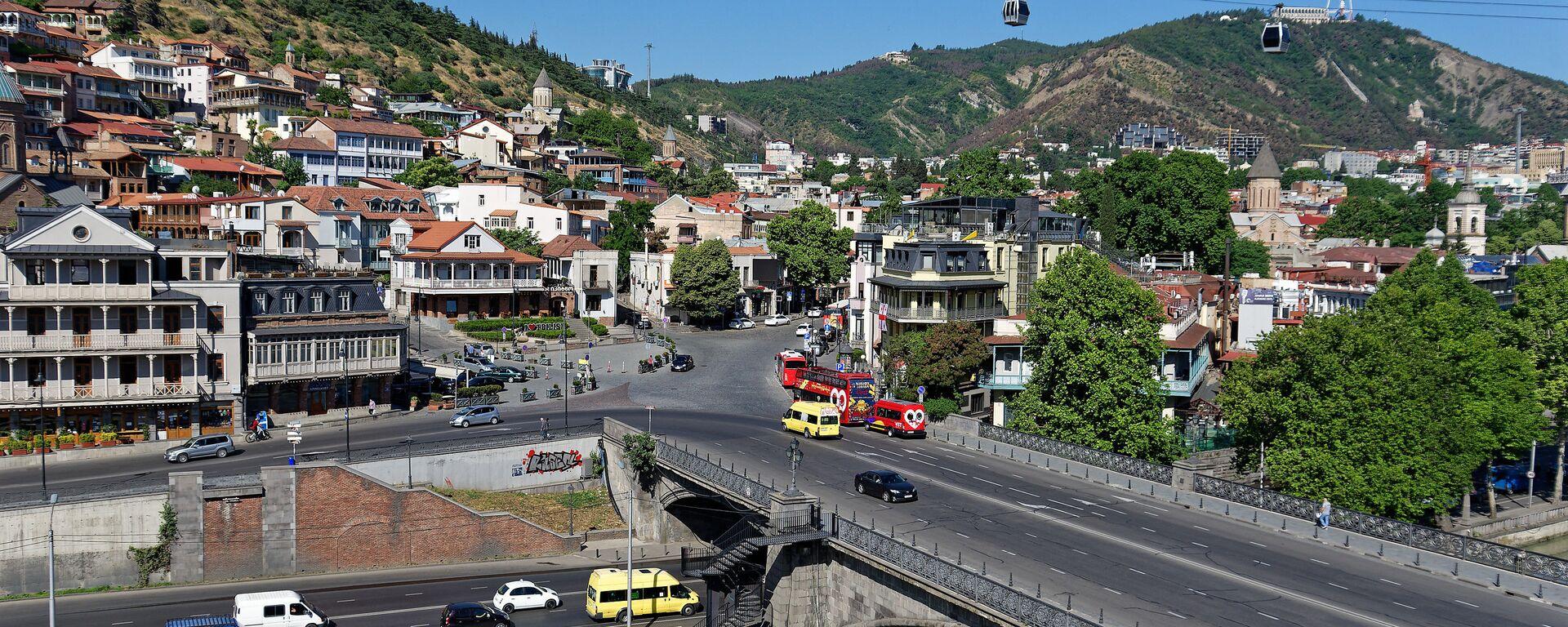 Вид на город Тбилиси - Метехский мост - Sputnik Грузия, 1920, 31.08.2021