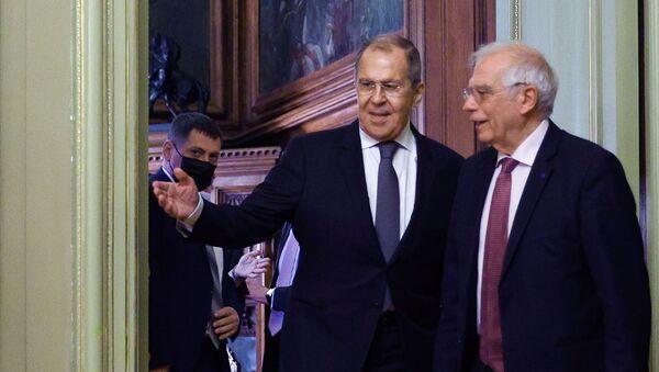 Встреча главы МИД РФ С. Лаврова и верховного представителя ЕС Ж. Борреля - Sputnik Грузия