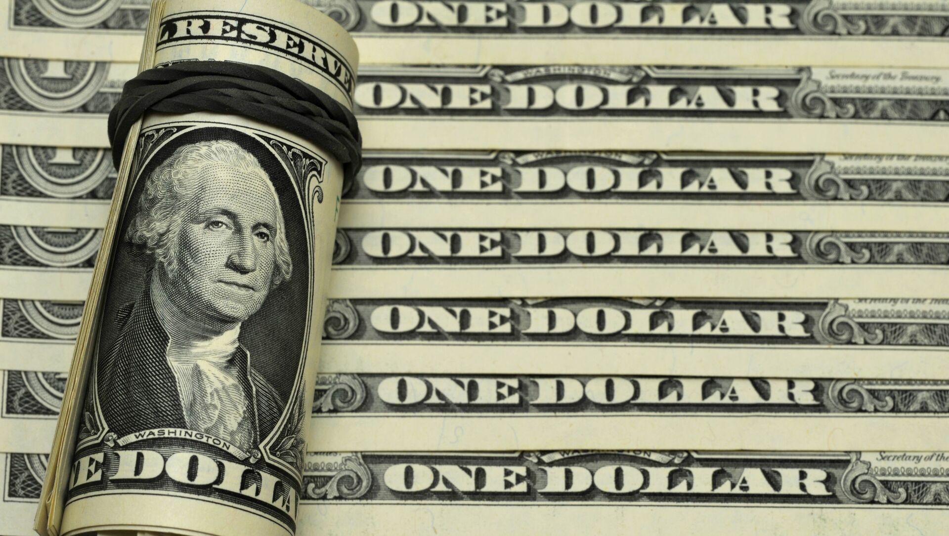 Банкноты номиналом 1 доллар США - Sputnik Грузия, 1920, 21.06.2021