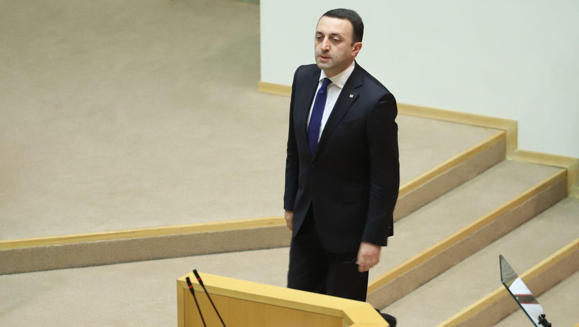 Ираклий Гарибашвили выступает в парламенте Грузии - Sputnik Грузия, 1920, 28.06.2021