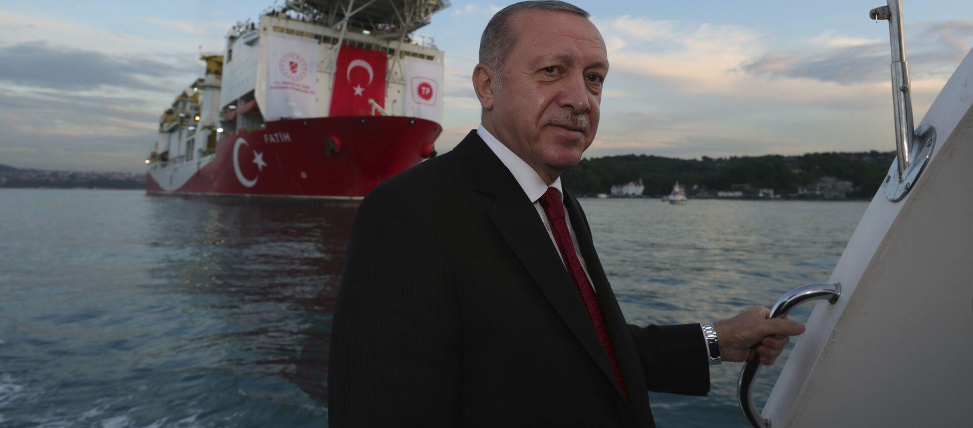 თურქეთის პრეზიდენტი რეჯეფ თაიიფ ერდოღანი - Sputnik საქართველო, 1920, 27.06.2021