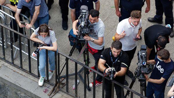 ჟურნალისტები და ოპერატორები აქციაზე - Sputnik საქართველო