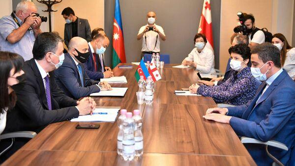 Встреча министров культуры Грузии и Азербайджана Теи Цулукиани и Анара Керимова - Sputnik Грузия