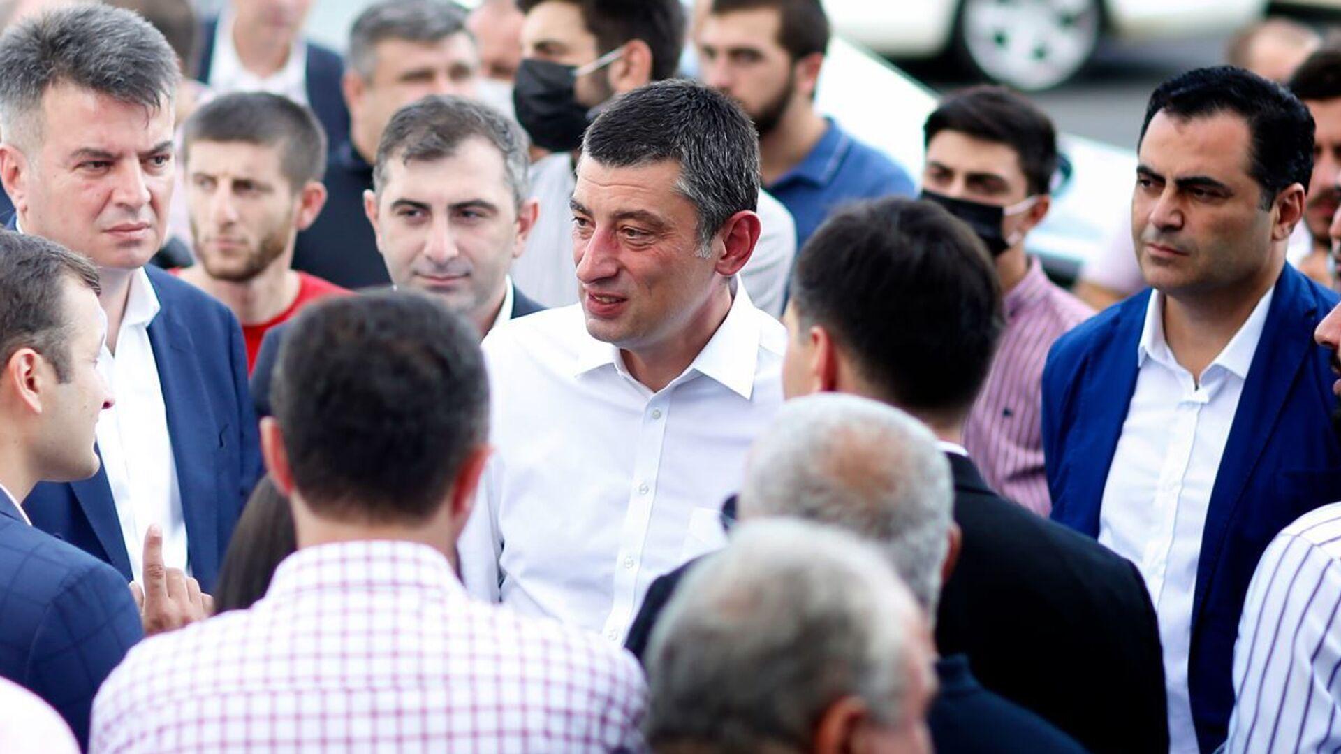 Георгий Гахария открыл офис своей партии в Зугдиди - Sputnik Грузия, 1920, 03.09.2021