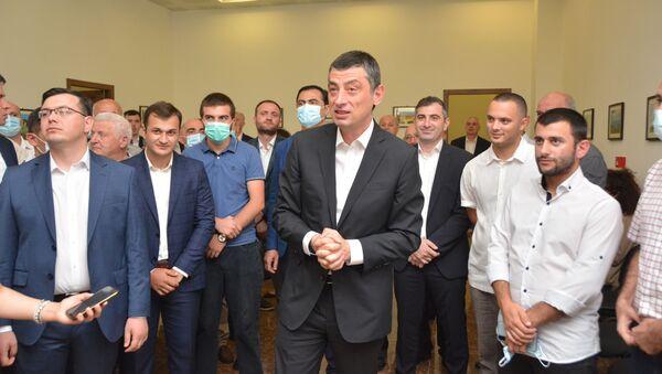 Георгий Гахария в зугдидском офисе своей партии За Грузию - Sputnik Грузия