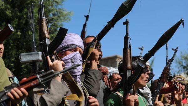 Силы ополчения во время собрания в Кабуле, когда Талибан захватил весь север (23 июня 2021). Афганистан - Sputnik Грузия