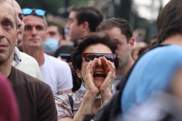 Главное требование протестующих - отставка Ираклия Гарибашвили с поста премьер-министра Грузии - Sputnik Грузия