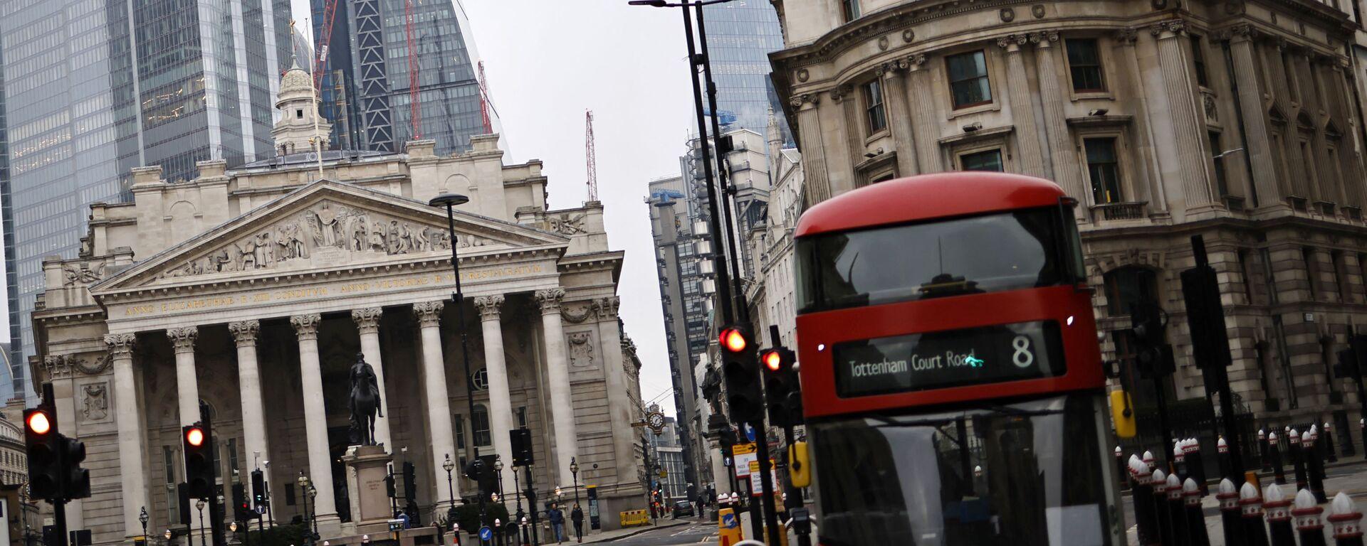 Лондон. Королевский банк и лондонская биржа - Sputnik Грузия, 1920, 06.08.2021