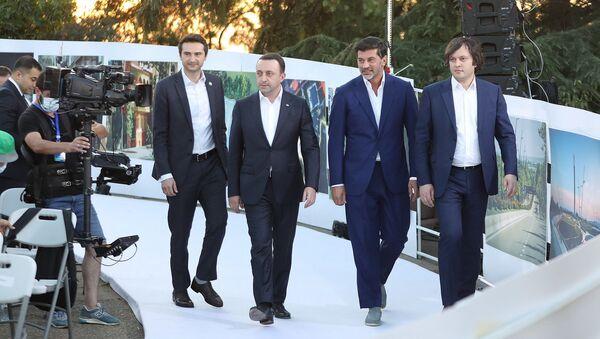 Лидеры правящей партии Грузинская мечта - Каха Кучава, Ираклий Гарибашвили, Каха Каладзе и Ираклий Кобахидзе - Sputnik Грузия