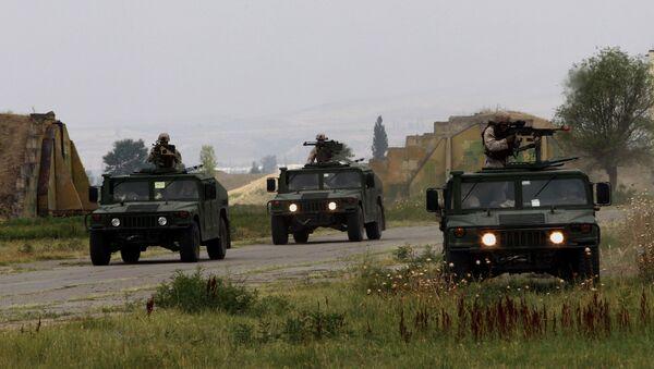 Военные учения Agile Spirit - грузинские и американские военнослужащие в Вазиани - Sputnik Грузия