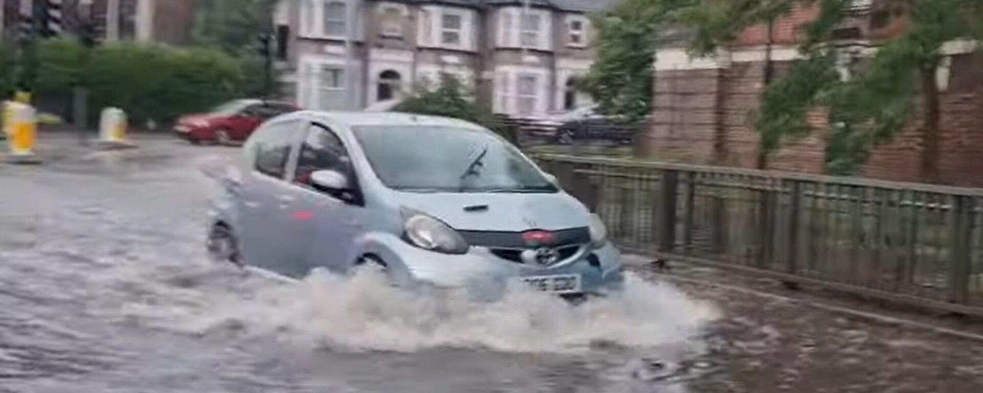 ძლიერმა წვიმებმა ლონდონში წყალდიდობა გამოიწვია - ვიდეო - Sputnik საქართველო, 1920, 26.07.2021