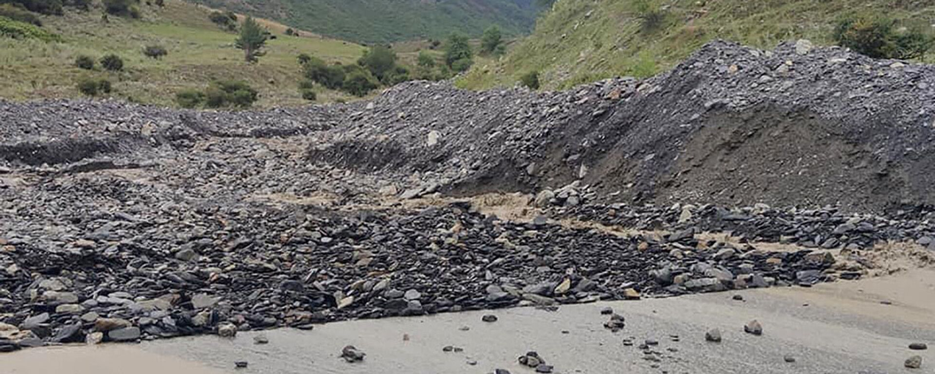 Последствия наводнения в регионе Сванети - Sputnik Грузия, 1920, 27.07.2021