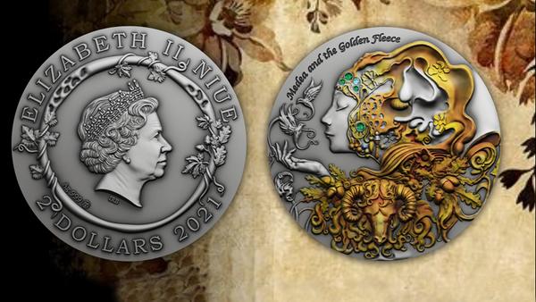 Коллекционные монеты в Литве с изображением Медеи и Золотого руна - Sputnik Грузия