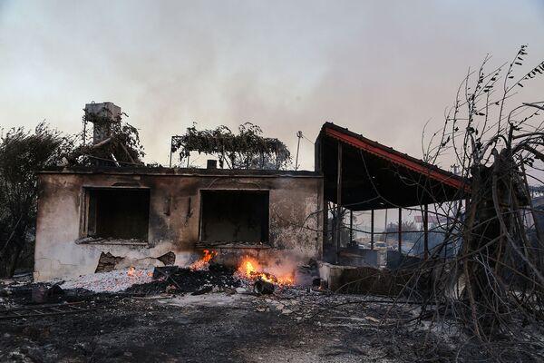 დამწვარი სახლი მანავგათში - Sputnik საქართველო