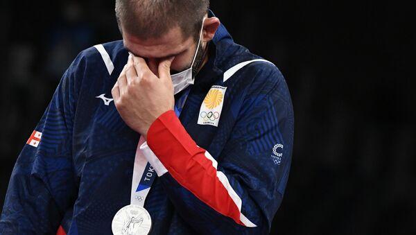 Борец Гено Петриашвили на Олимпиаде в Токио с серебрянной медалью - Sputnik Грузия