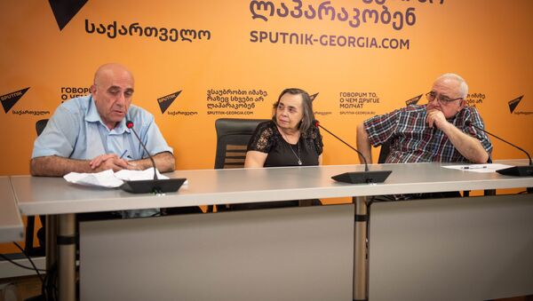 Давид Шемокмедели и Нино Кутателадзе  - Sputnik Грузия