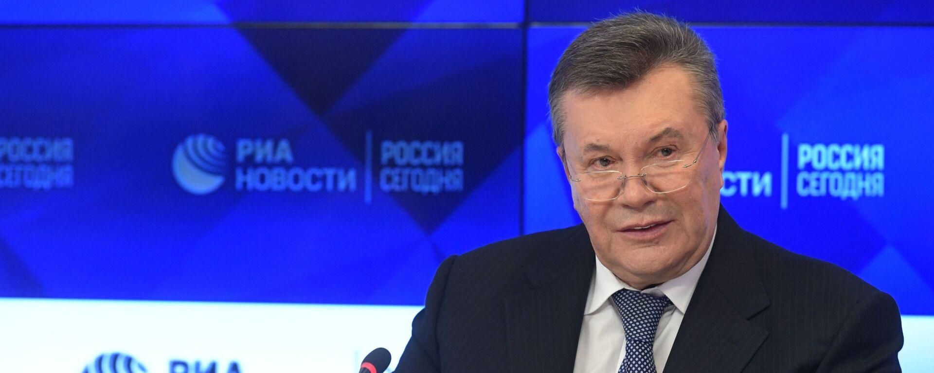 Бывший президент Украины Виктор Янукович  - Sputnik Грузия, 1920, 17.08.2021