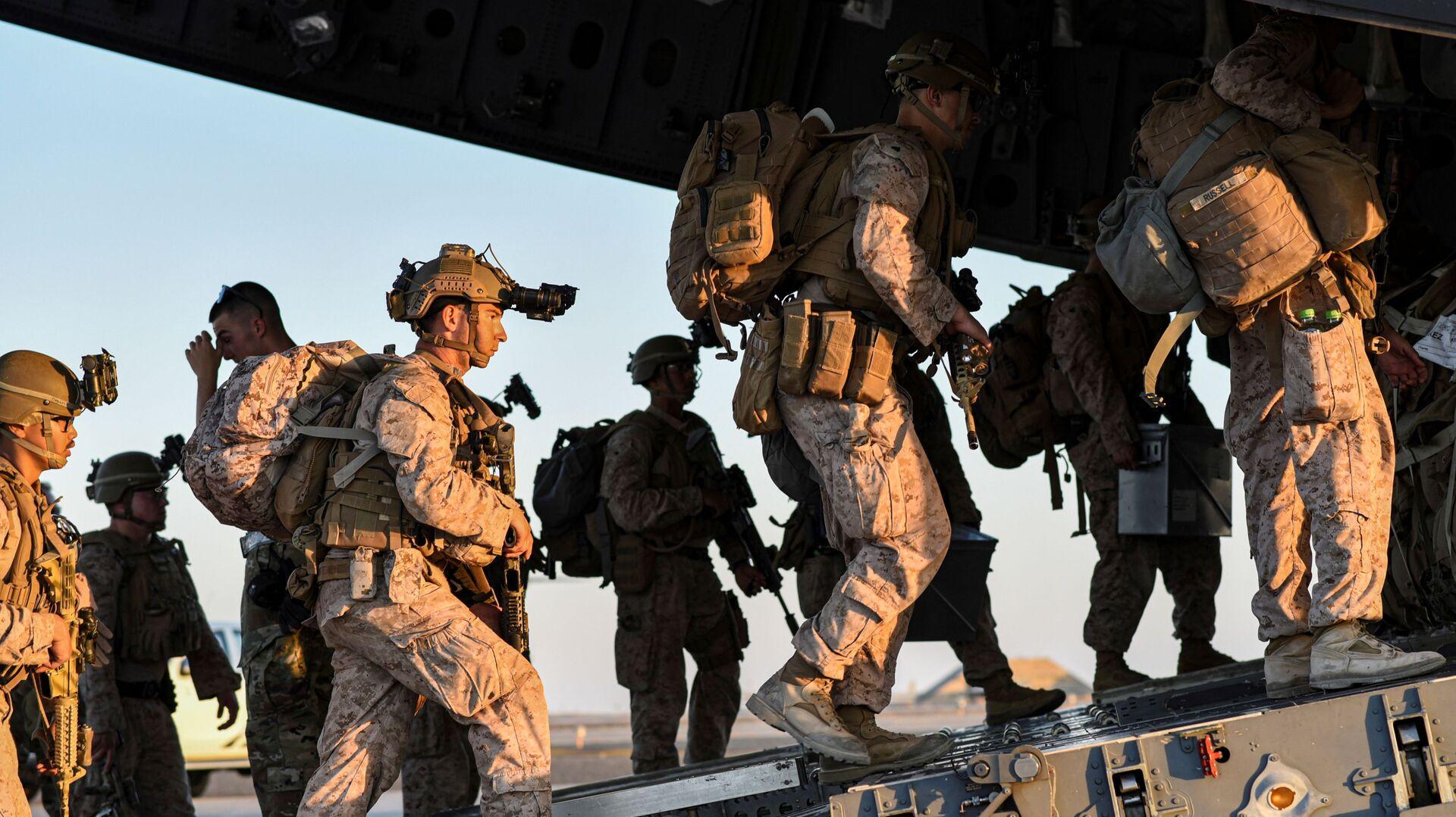 Американские военнослужащие покидают Афганистан - Sputnik Грузия, 1920, 02.09.2021
