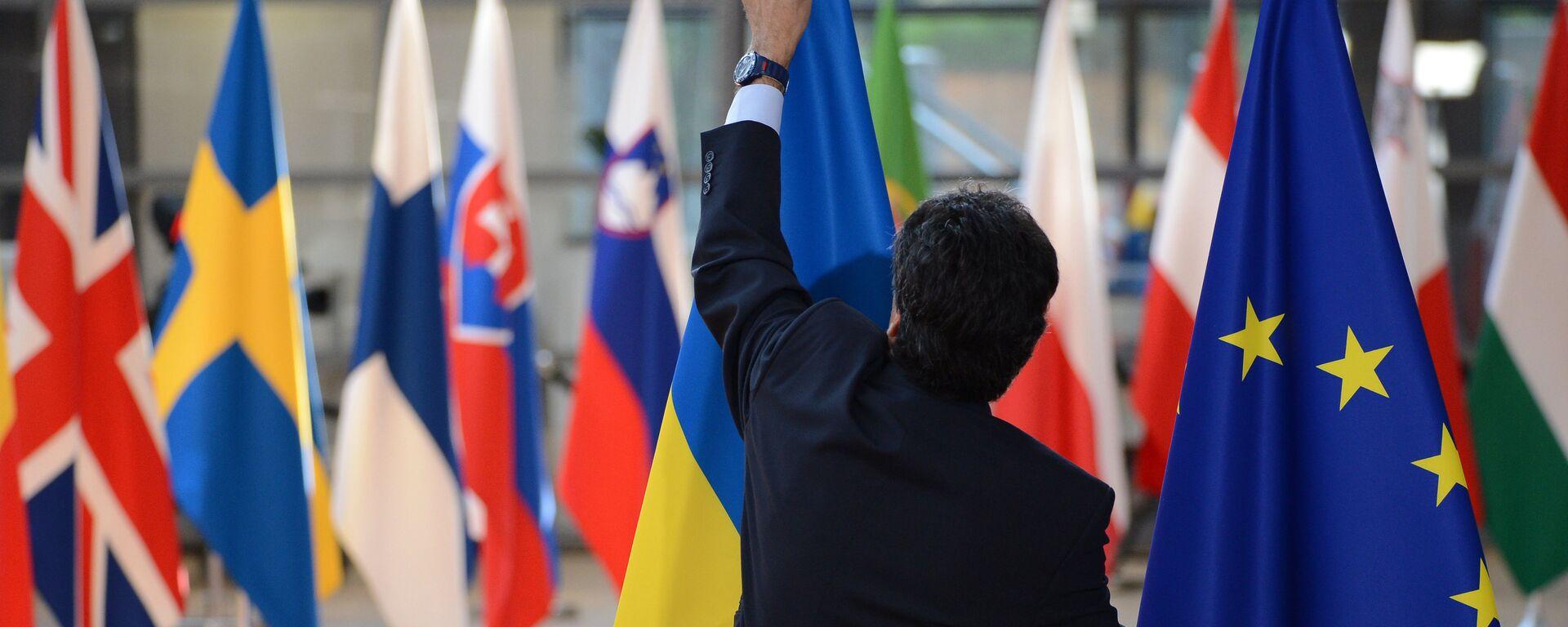 ევროკავშირის წევრი ქვეყნების დროშები - Sputnik საქართველო, 1920, 06.10.2021