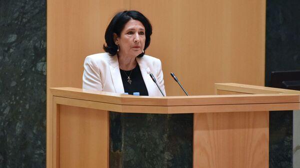Выступление Саломе Зурабишвили в парламенте  - Sputnik Грузия