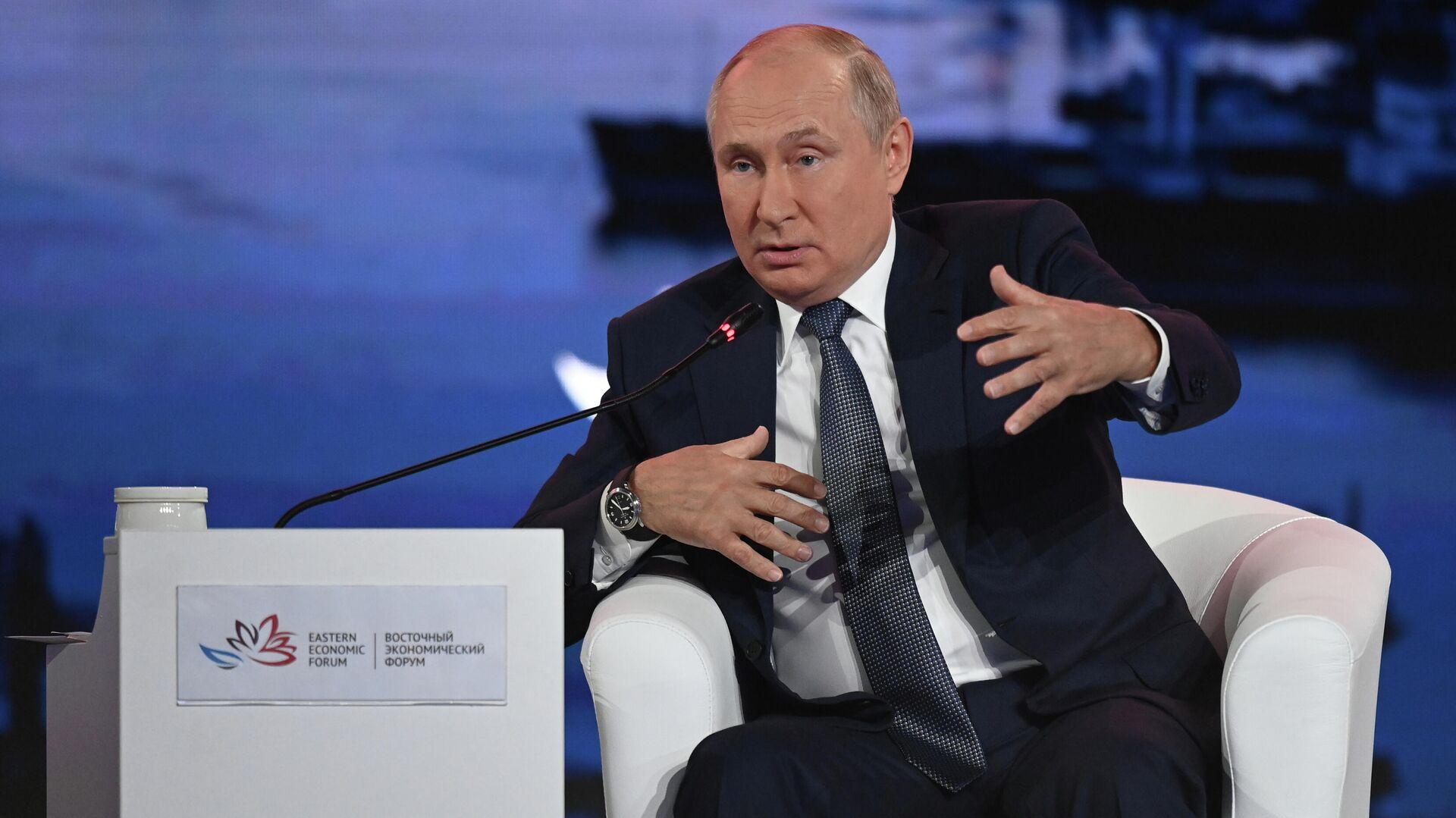 Президент РФ В. Путин принял участие в работе Восточного экономического форума - Sputnik საქართველო, 1920, 14.10.2021