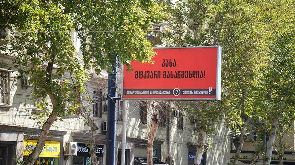Предвыборная реклама - баннер партии Граждане и Алеко Элисашвили - Sputnik Грузия
