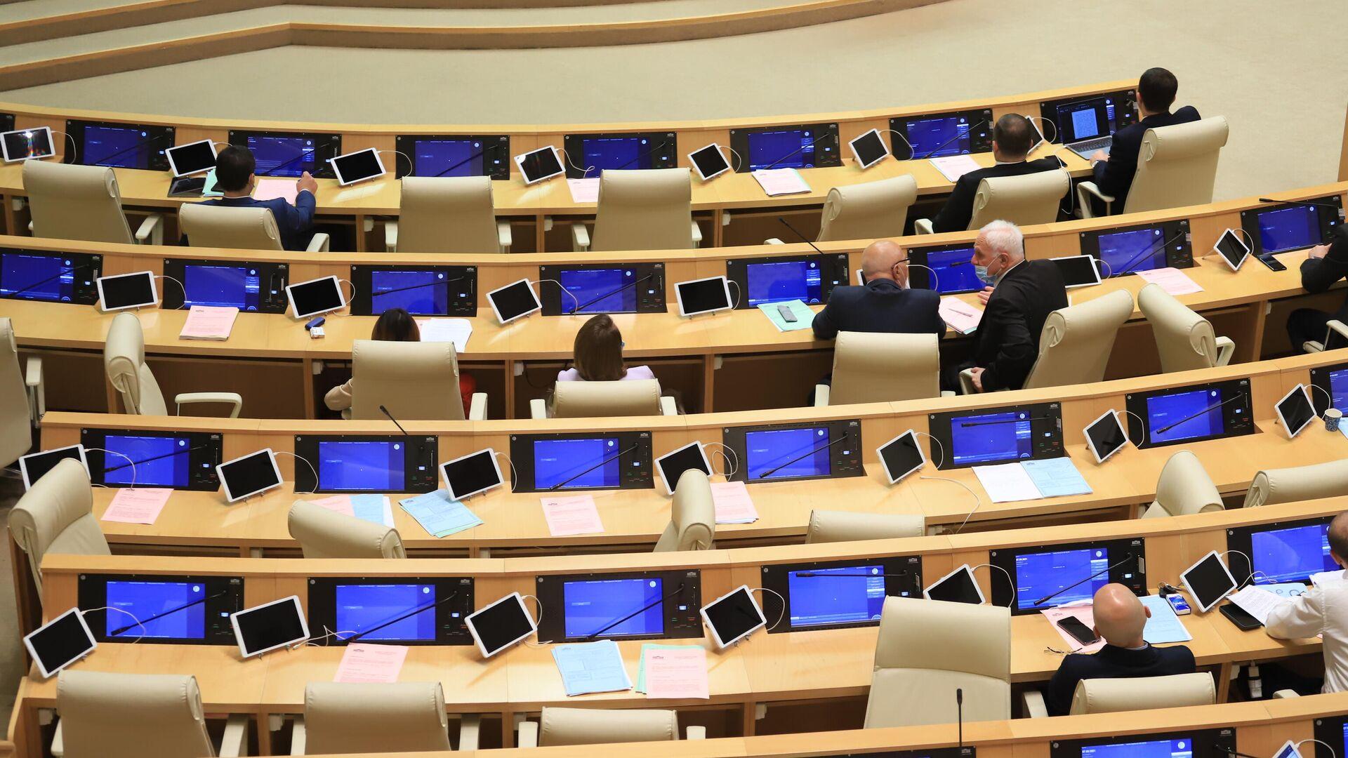 Парламент Грузии. Депутаты. Открытие осенней сессии - Sputnik Грузия, 1920, 07.09.2021