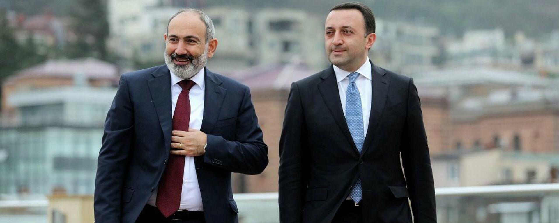 Ираклий Гарибашвили и Никол Пашинян - Sputnik Грузия, 1920, 08.09.2021