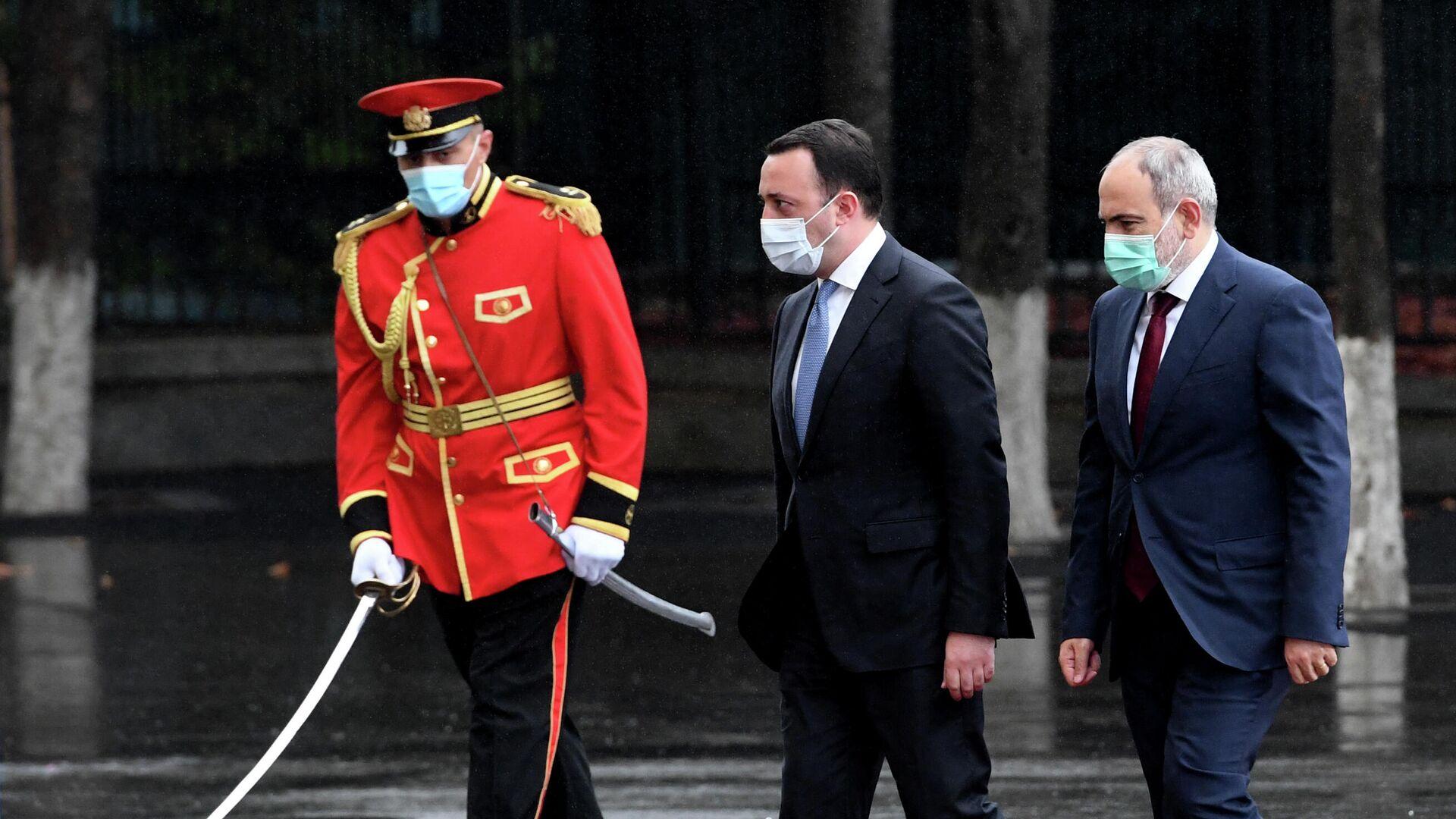 Официальный визит премьер-министра Армении  Никола Пашиняна в Грузию - Sputnik Грузия, 1920, 08.09.2021