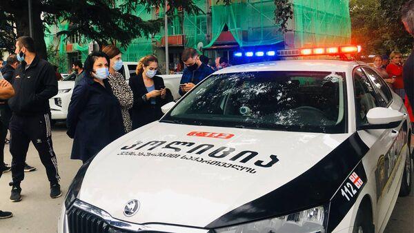 პოლიცია და ადგილობრივები შემთხვევის ადგილზე - Sputnik საქართველო