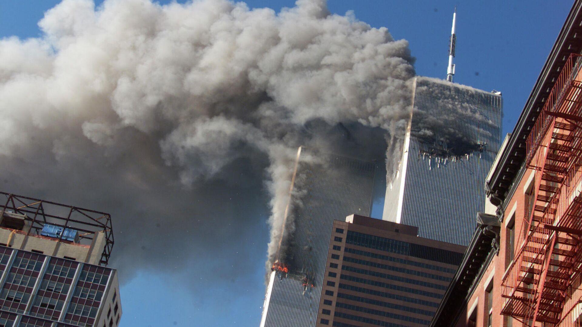Теракт в США 11 сентября 2001 года, архивное фото - Sputnik Грузия, 1920, 11.09.2021