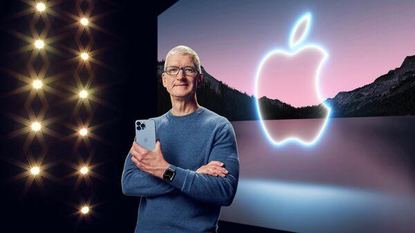 Тим Кук. Презентация новых моделей iPhone 13 в Купертино, Калифорния.  - Sputnik Грузия