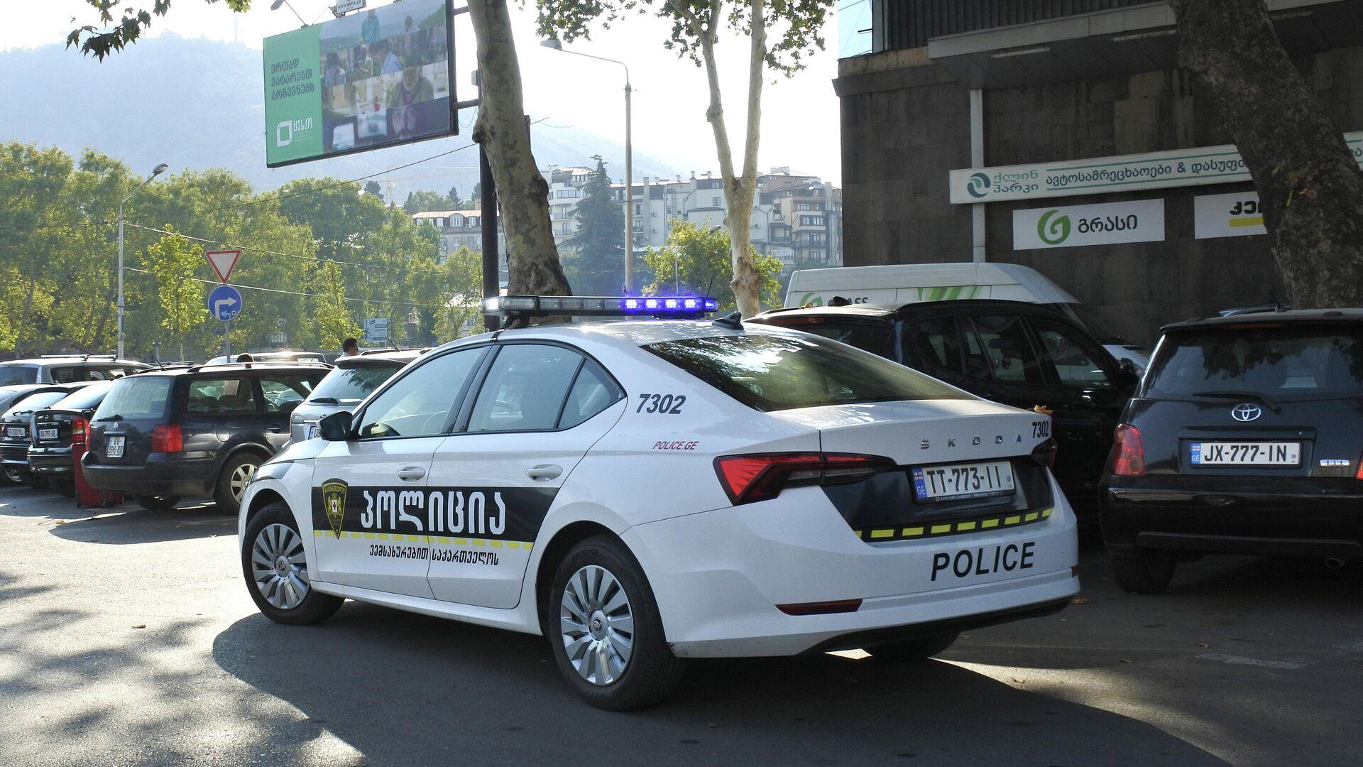 Предвыборная агитация в Тбилиси - патрульная полиция на улицах города - Sputnik Грузия, 1920, 02.10.2021