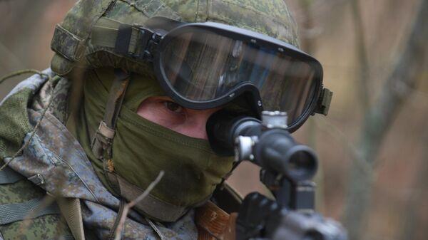 Учения подразделения разведки Западного военного округа - Sputnik Грузия