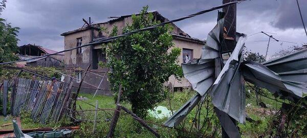 От смерча пострадало село Шавгеле в регионе Самегрело в Западной Грузии. - Sputnik Грузия