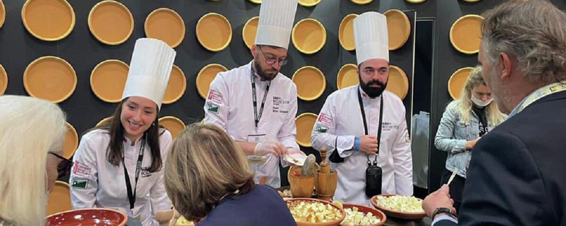 Грузинская кухня представлена на международной выставке во Франции - Sputnik Грузия, 1920, 26.09.2021