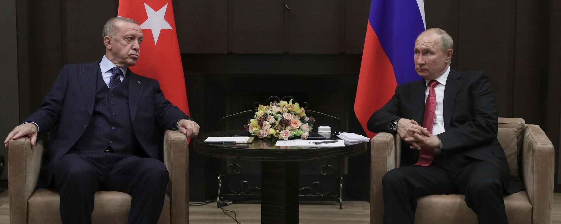 Президент РФ В. Путин провел переговоры с президентом Турции Р. Эрдоганом - Sputnik Грузия, 1920, 29.09.2021