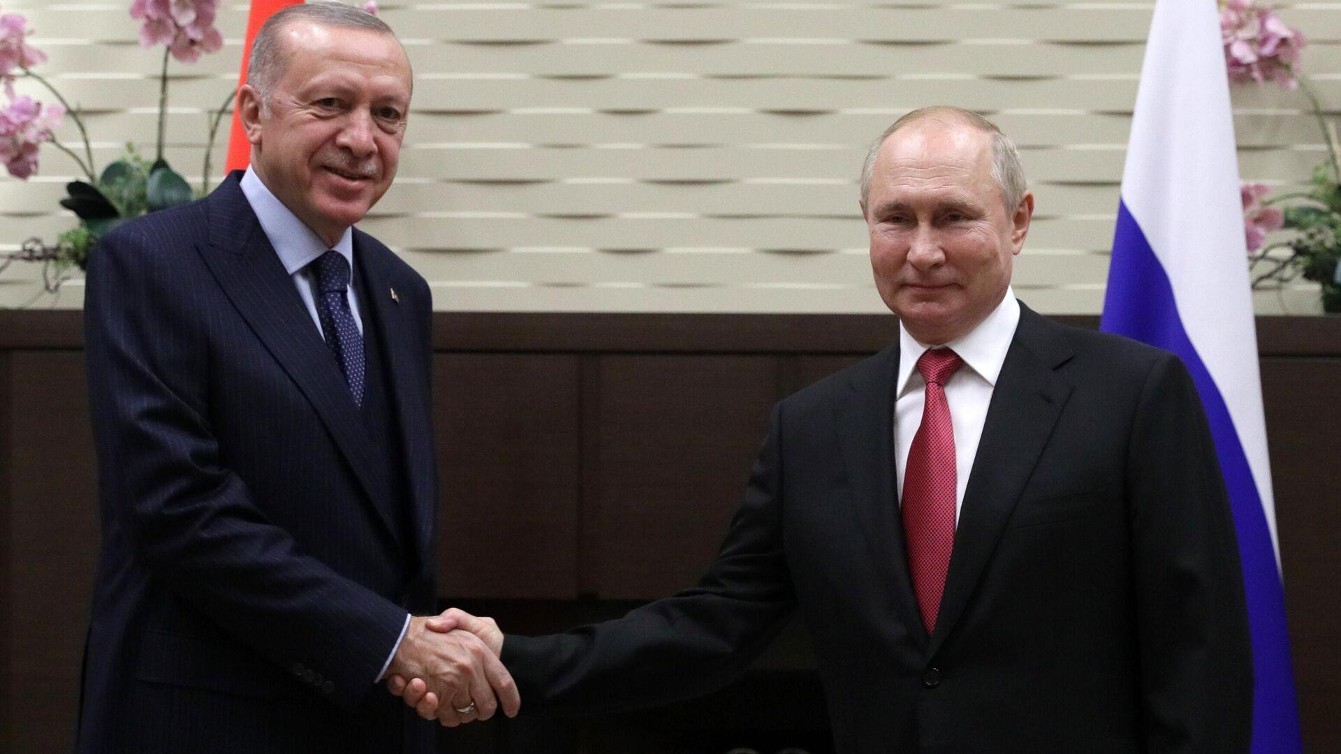 Президент РФ В. Путин провел переговоры с президентом Турции Р. Эрдоганом - Sputnik Грузия, 1920, 30.09.2021