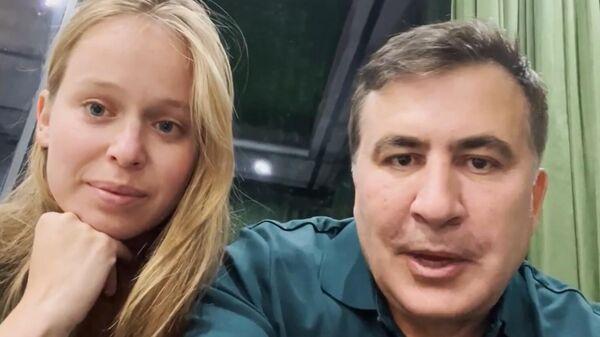 მიხეილ სააკაშვილი ცოლთან ერთად - Sputnik საქართველო