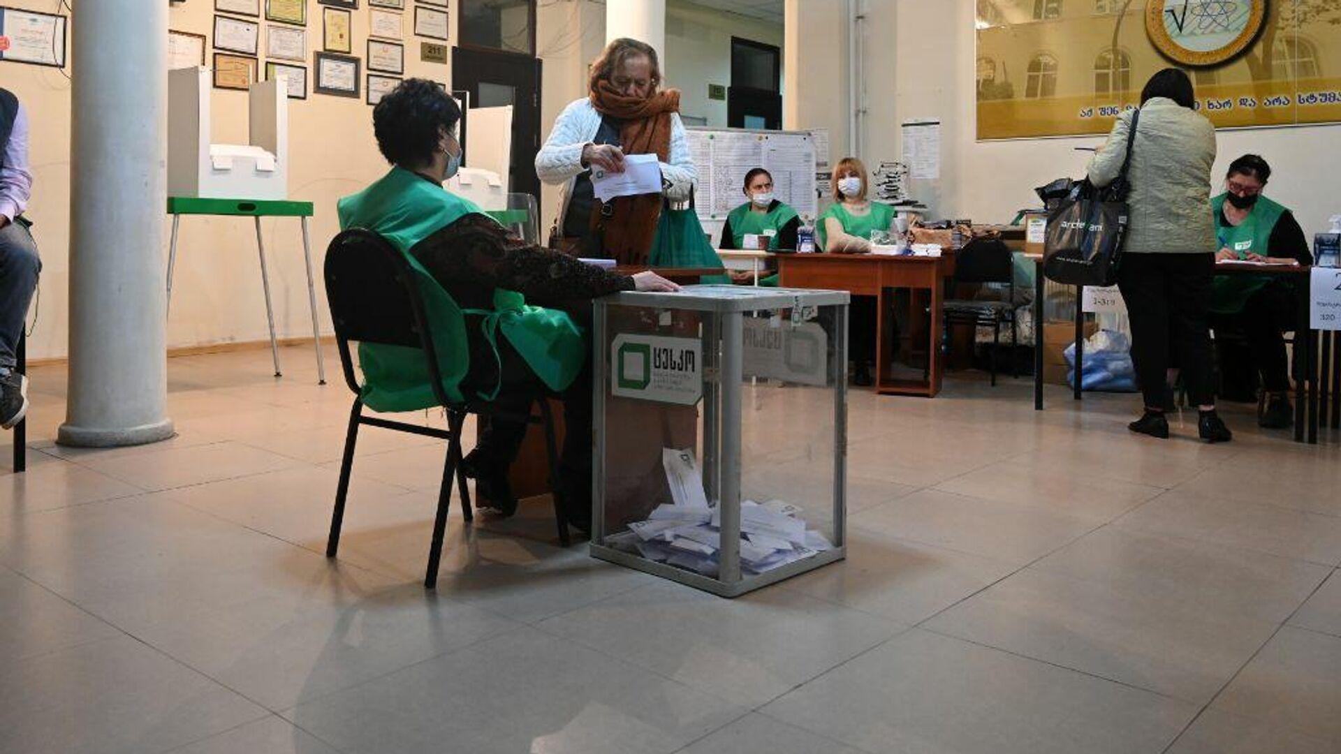 Местные выборы в Грузии 2 октября - избиратели участвуют в голосовании - Sputnik Грузия, 1920, 06.10.2021