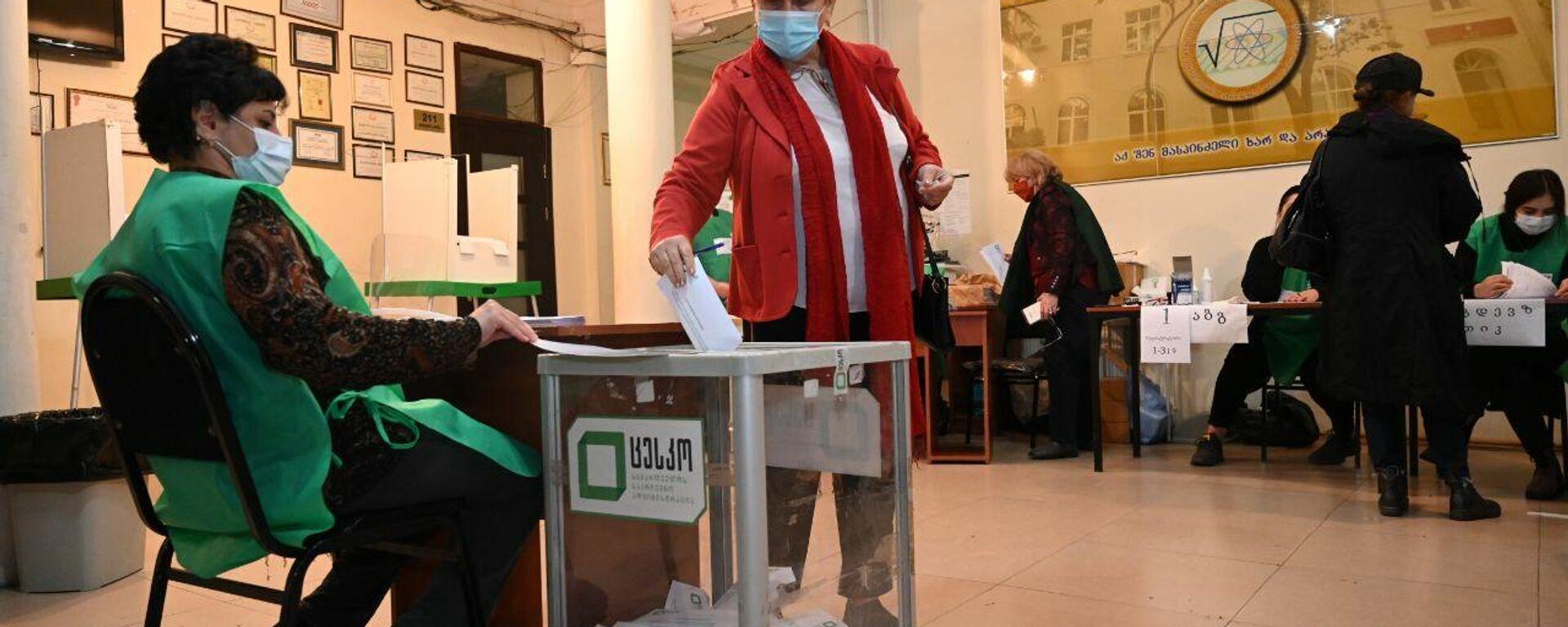 Местные выборы в Грузии 2 октября - избиратели участвуют в голосовании - Sputnik Грузия, 1920, 02.10.2021