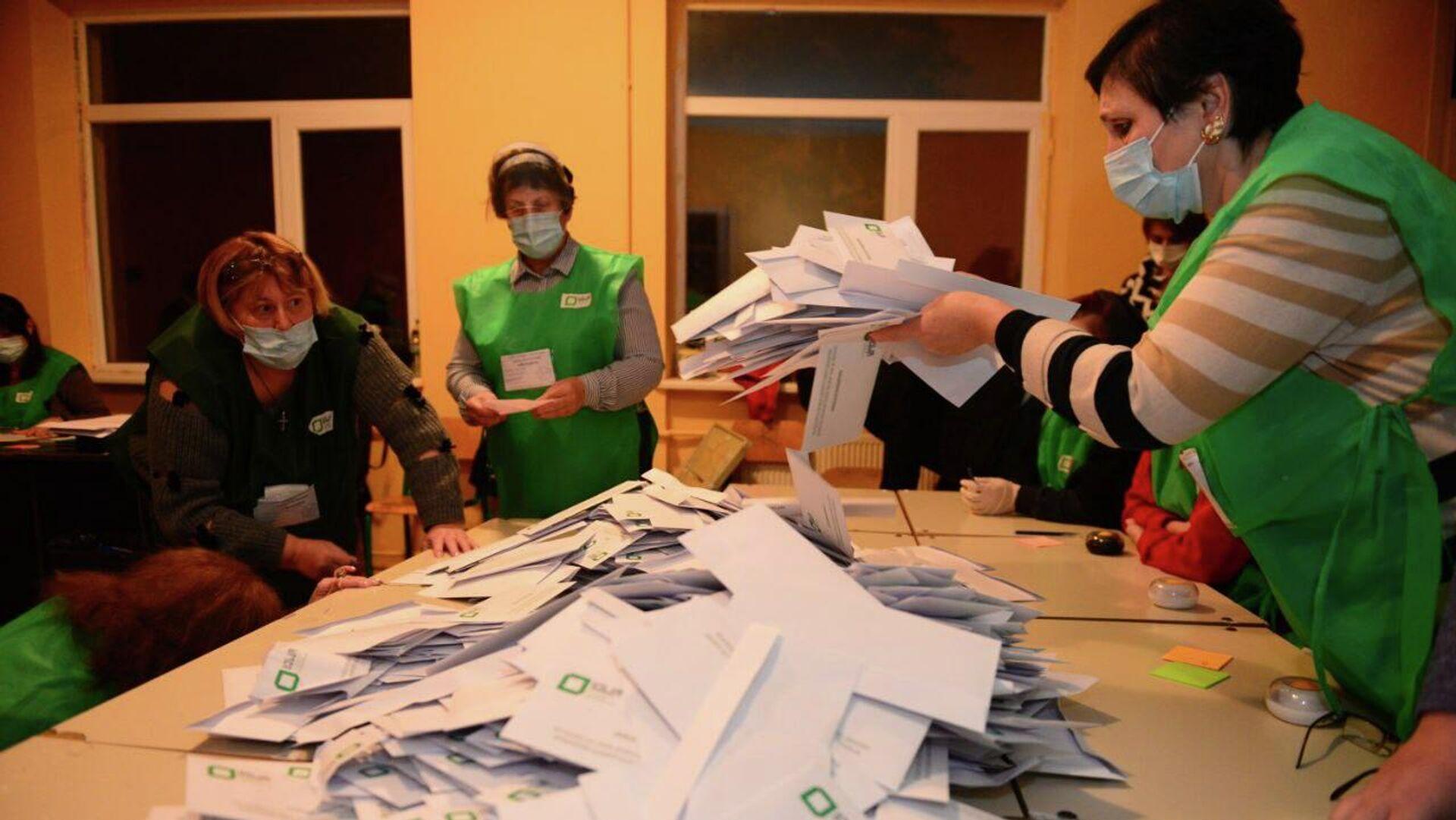 Местные выборы 2 октября - подсчет голосов после голосования - Sputnik Грузия, 1920, 03.10.2021