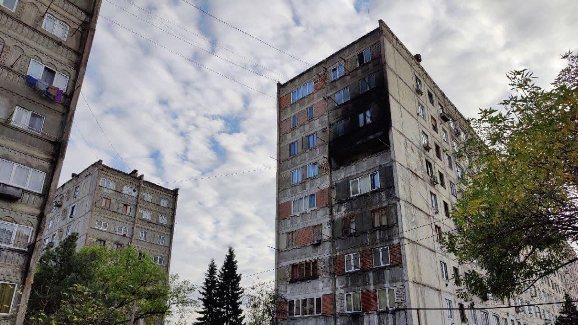 Последствия взрыва газа в многоэтажном доме на верхнем плато Варкетили - Sputnik Грузия, 1920, 07.10.2021