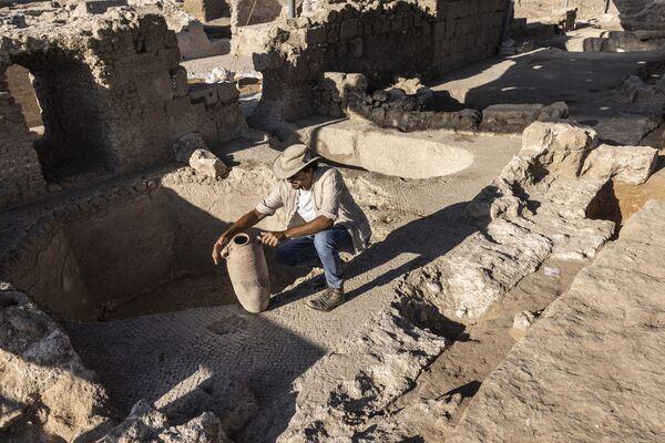 Израильские археологи заявили о находке и рассказали, что комплекс включает в себя пять винных прессов и склады - Sputnik Грузия